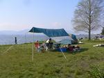 滋賀県の琵琶湖岸の景色